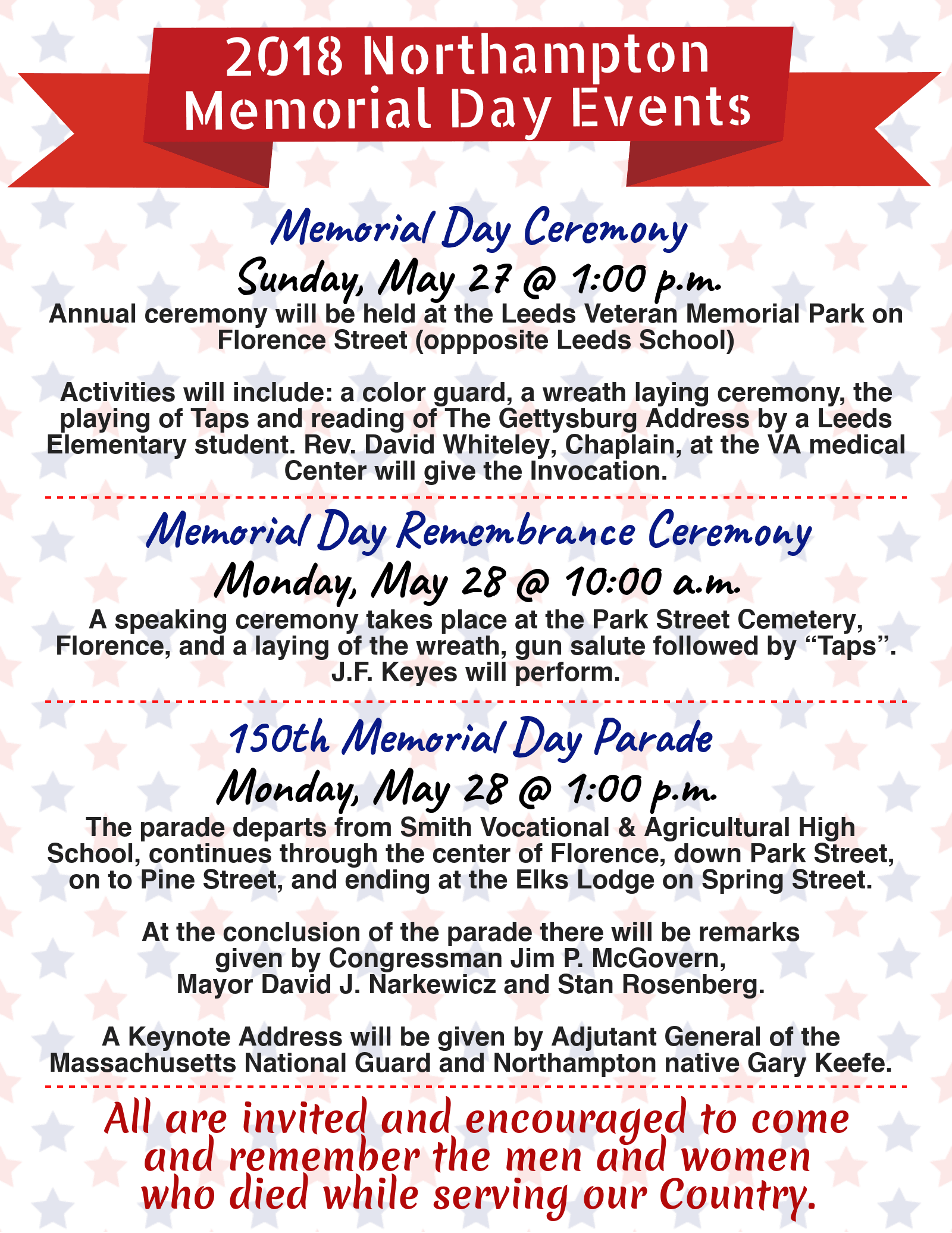 Memorial Day 2018 Events