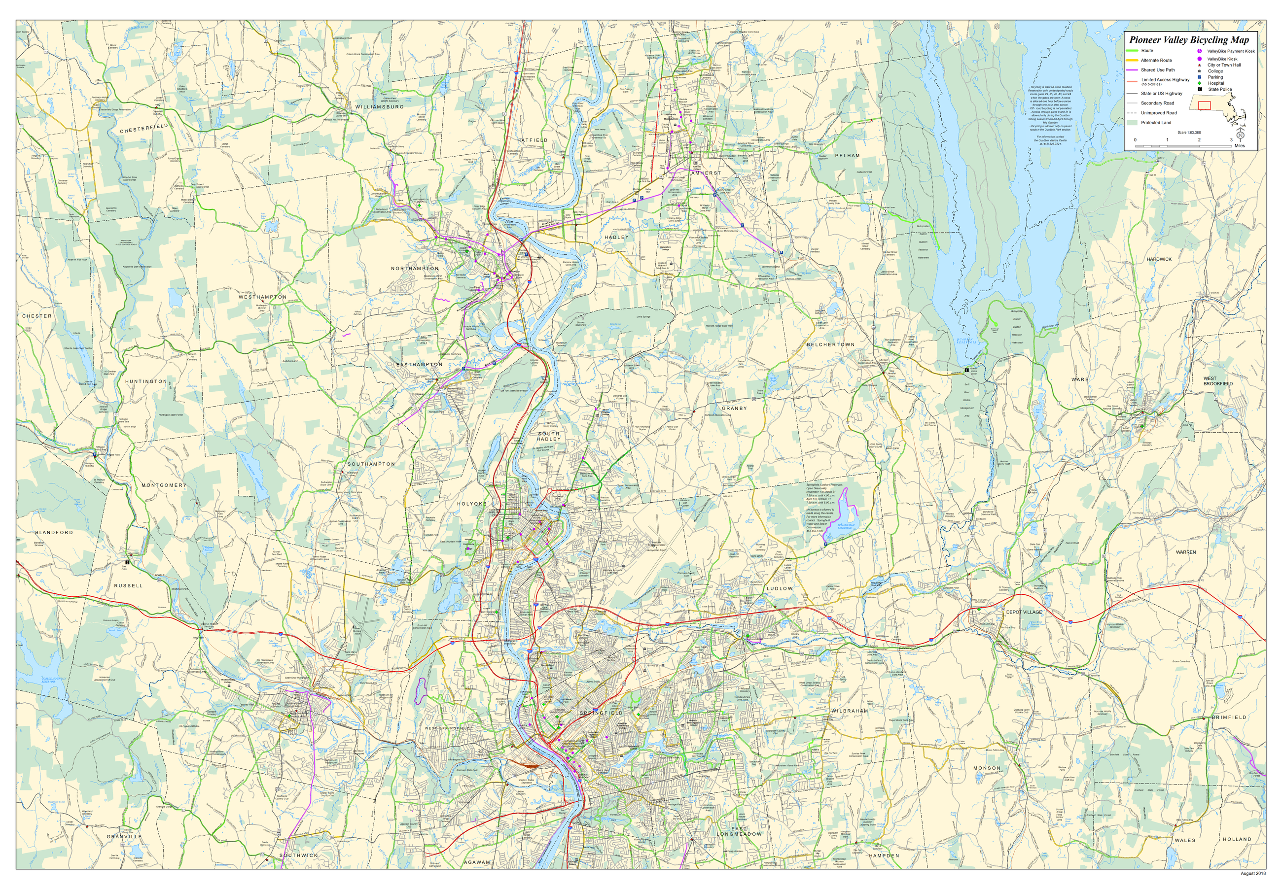 Regional Bicycle Map (see PDF for higher resolution)