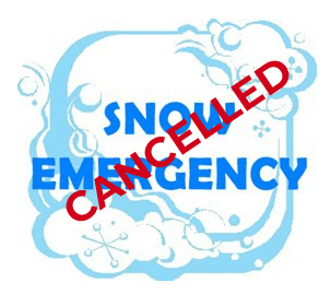 Image of Snow Emergency Cancelled graphic