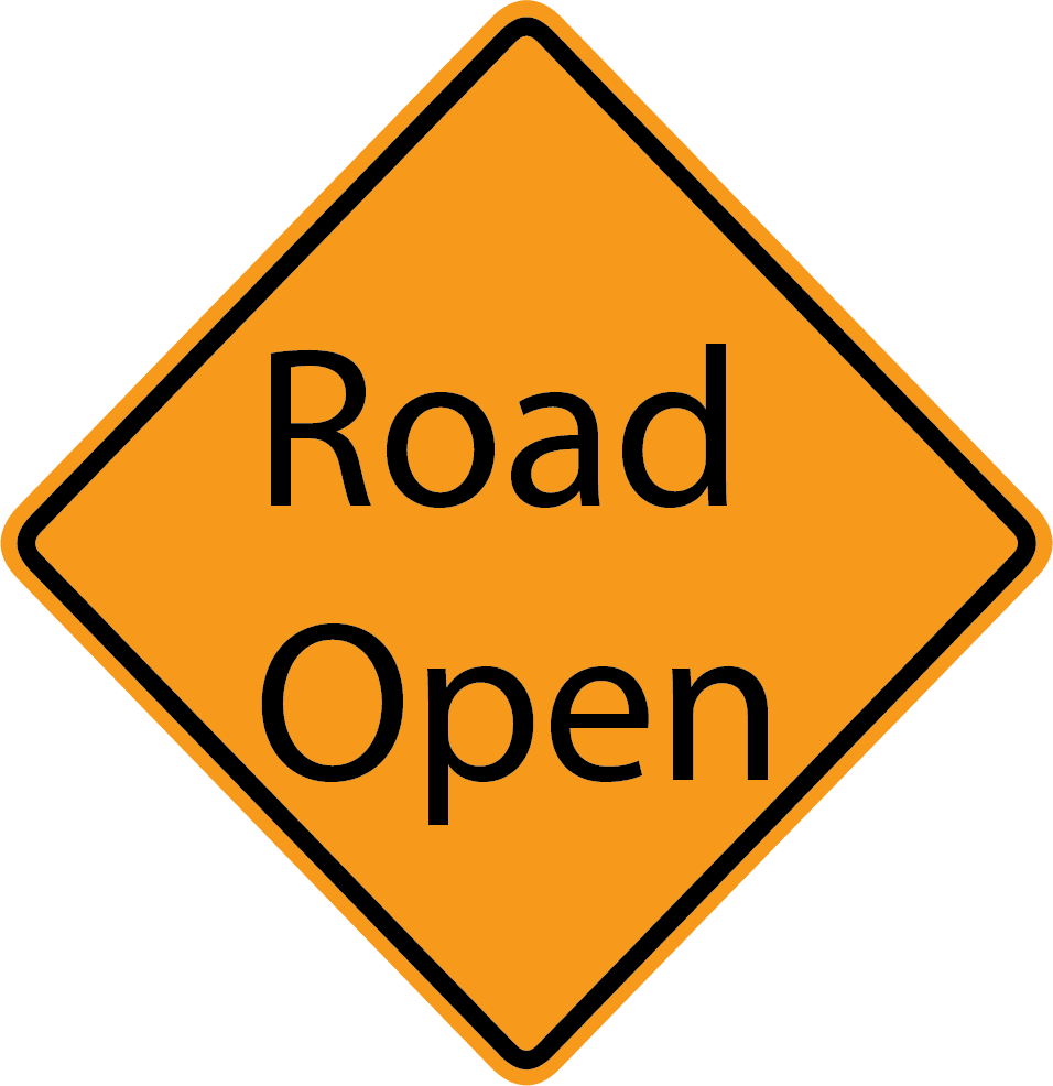 Image of Road Open sign