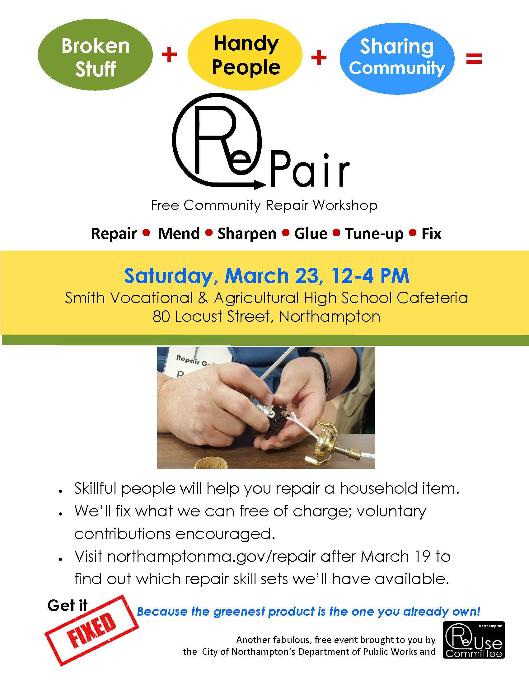 Image of RePair March 2019 Flyer