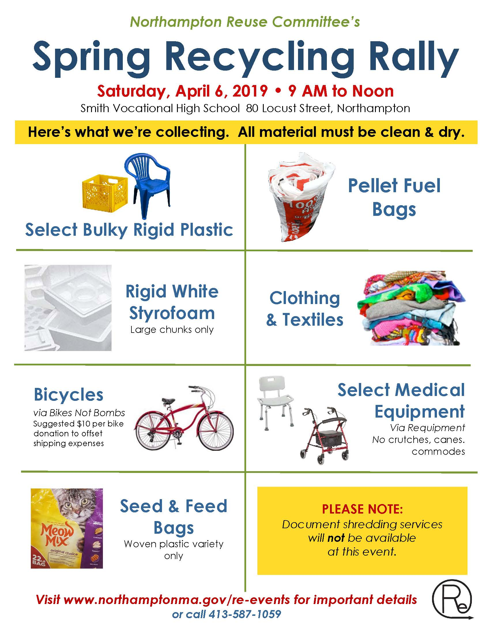 Image of Spring Recycling Rally flyer