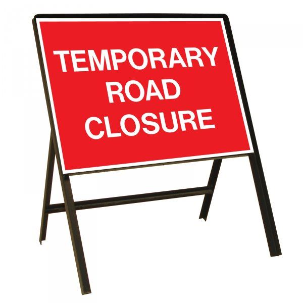 Image of temporary road closure sign