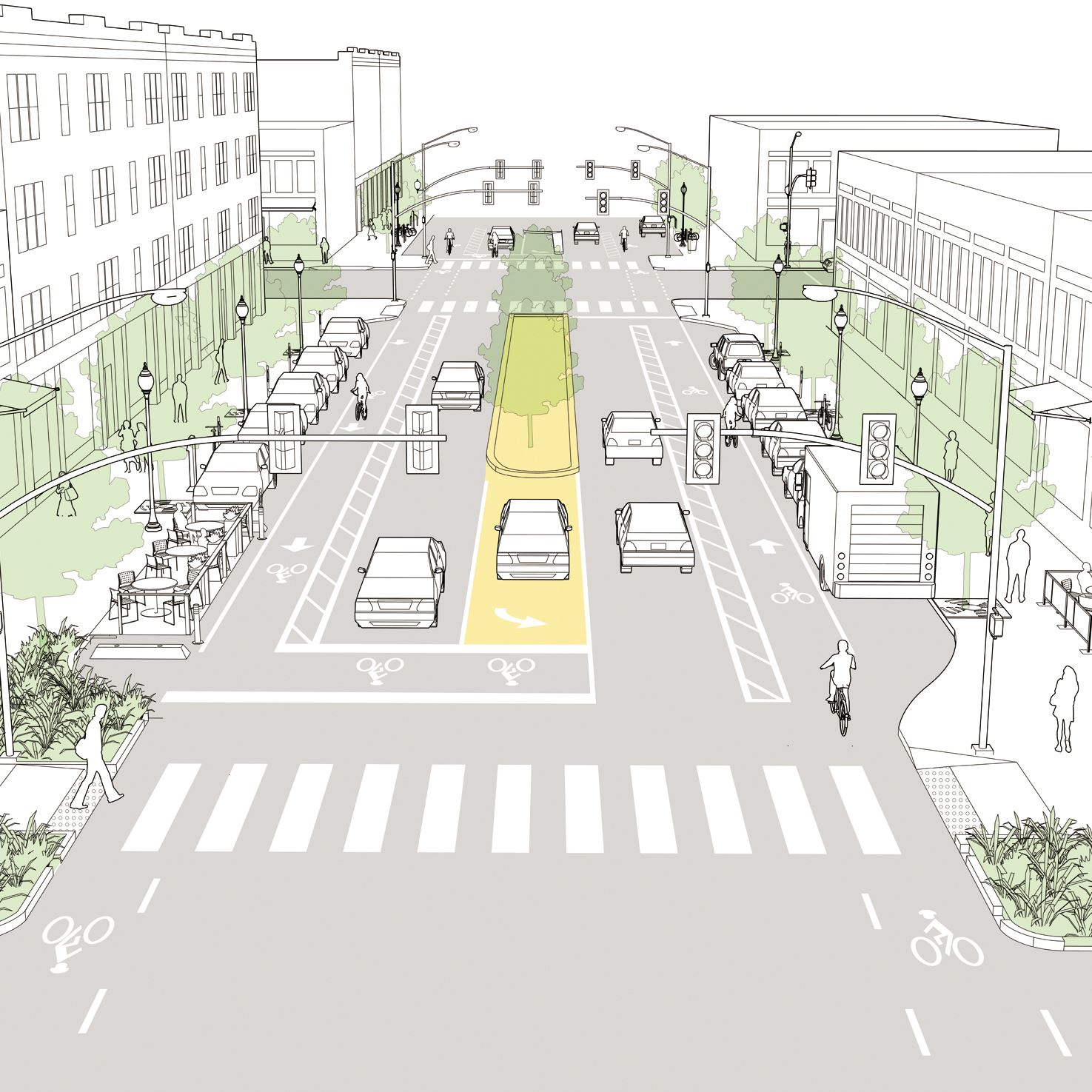 Graphic of Neighborhood-main-street redesign project