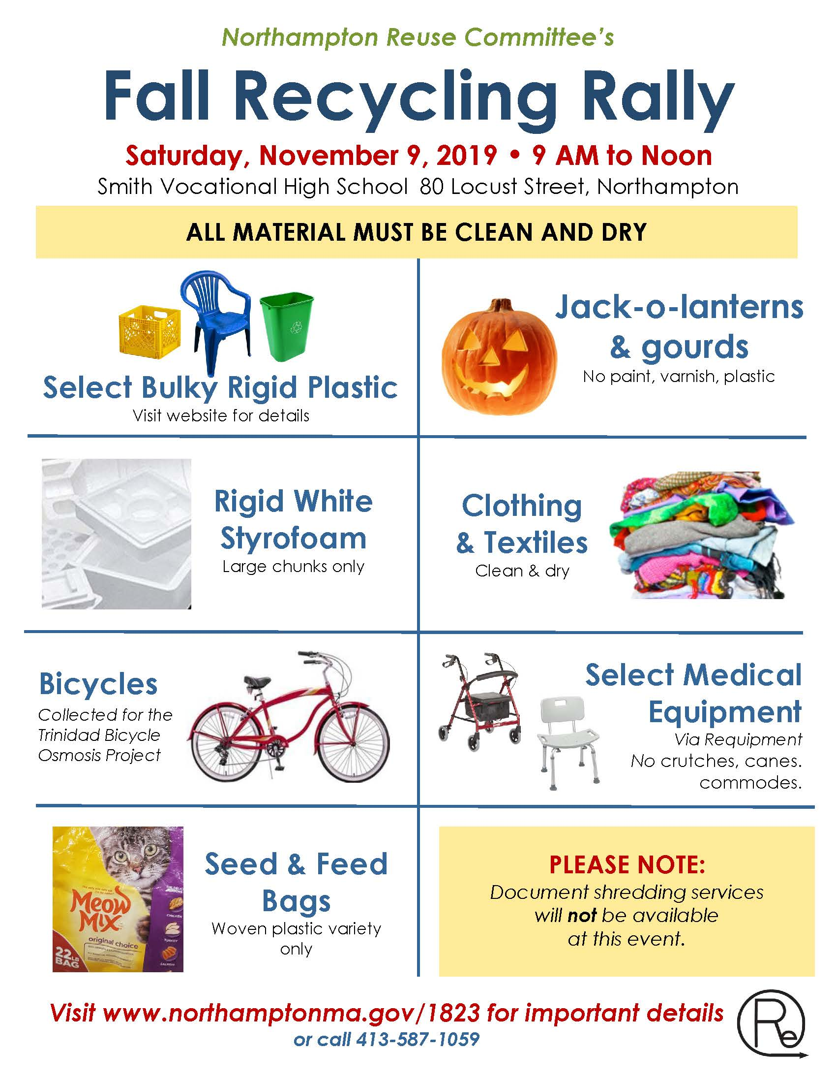 Image of the 2019 Fall Recycling Rally poster