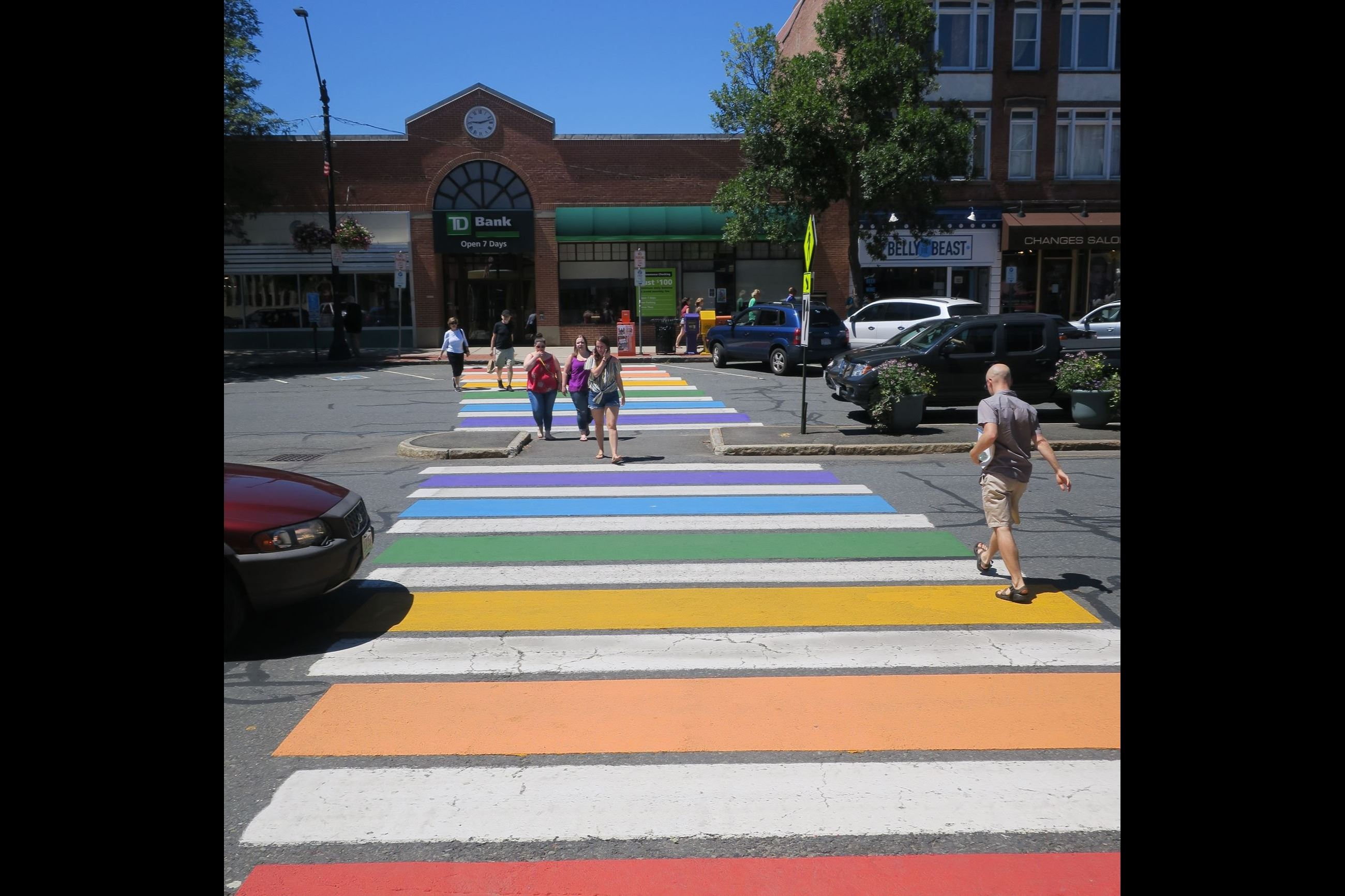 Rainbow Crosswalk on Main Street
