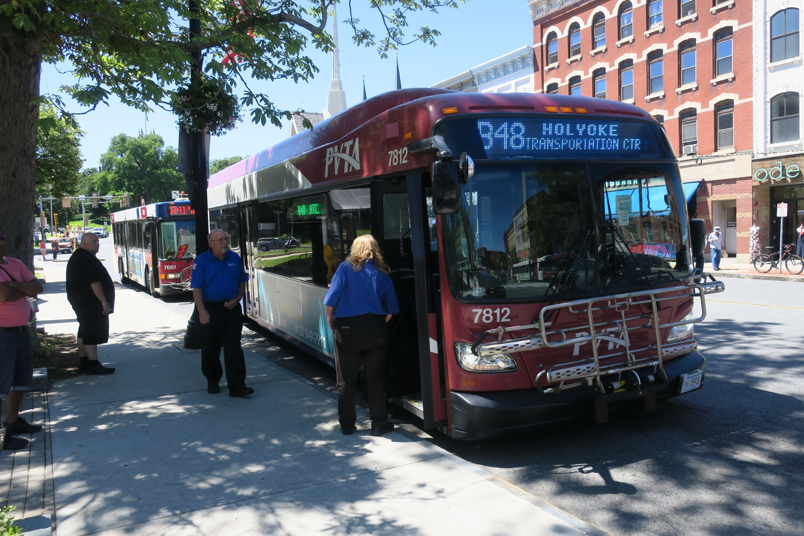 PVTA bus on Main Street