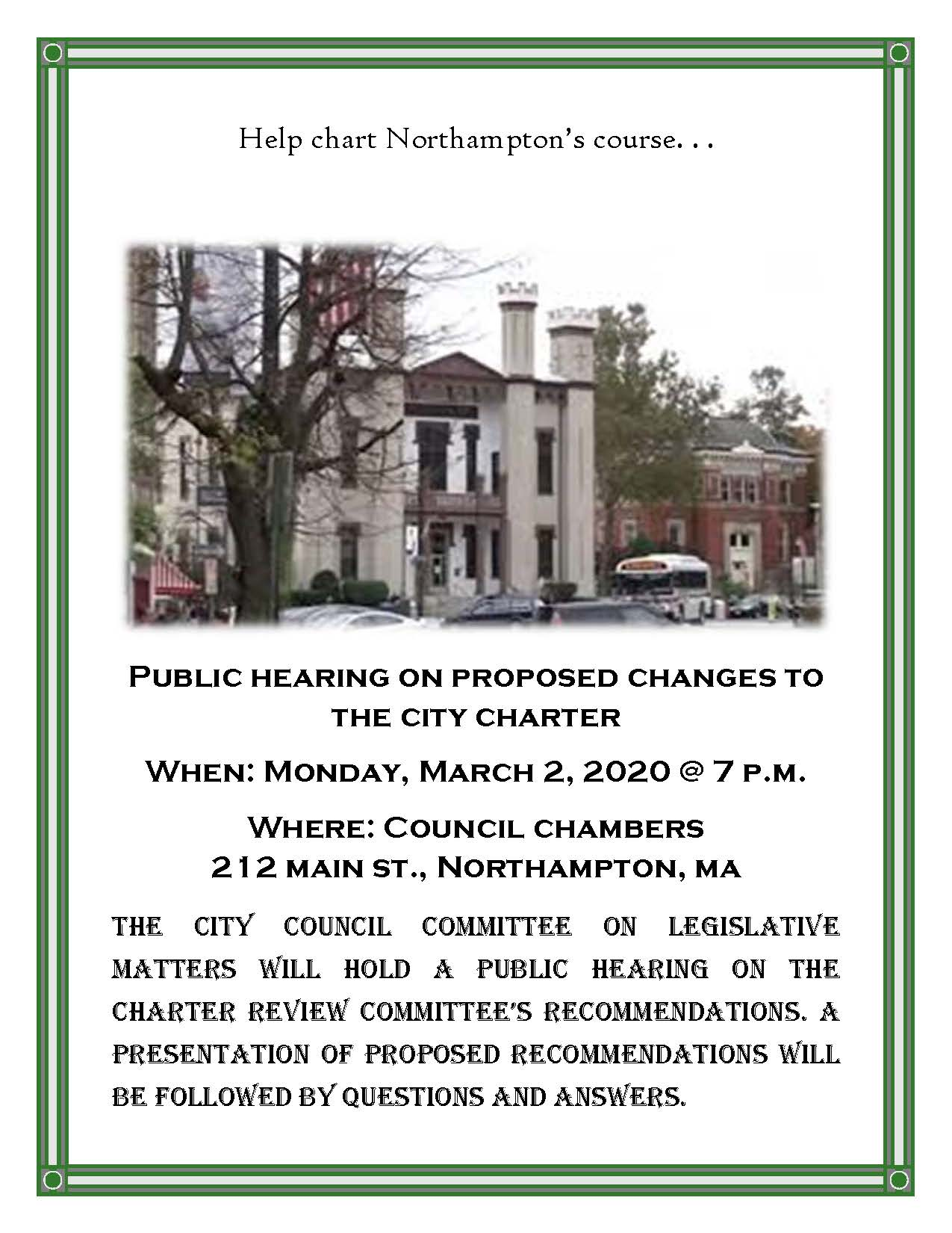 Image of Charter Public Hearing flyer