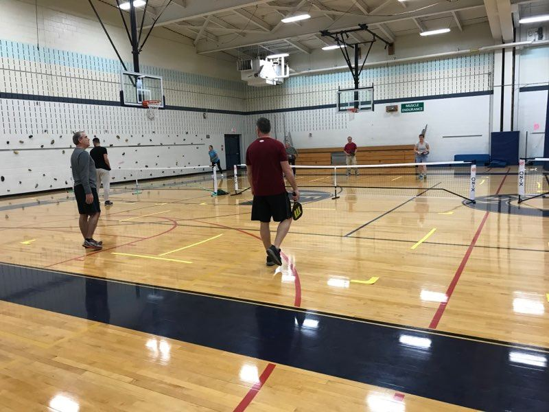 Indoor pickleball play