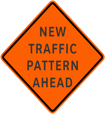 Imagine of New Traffic Pattern Ahead sign