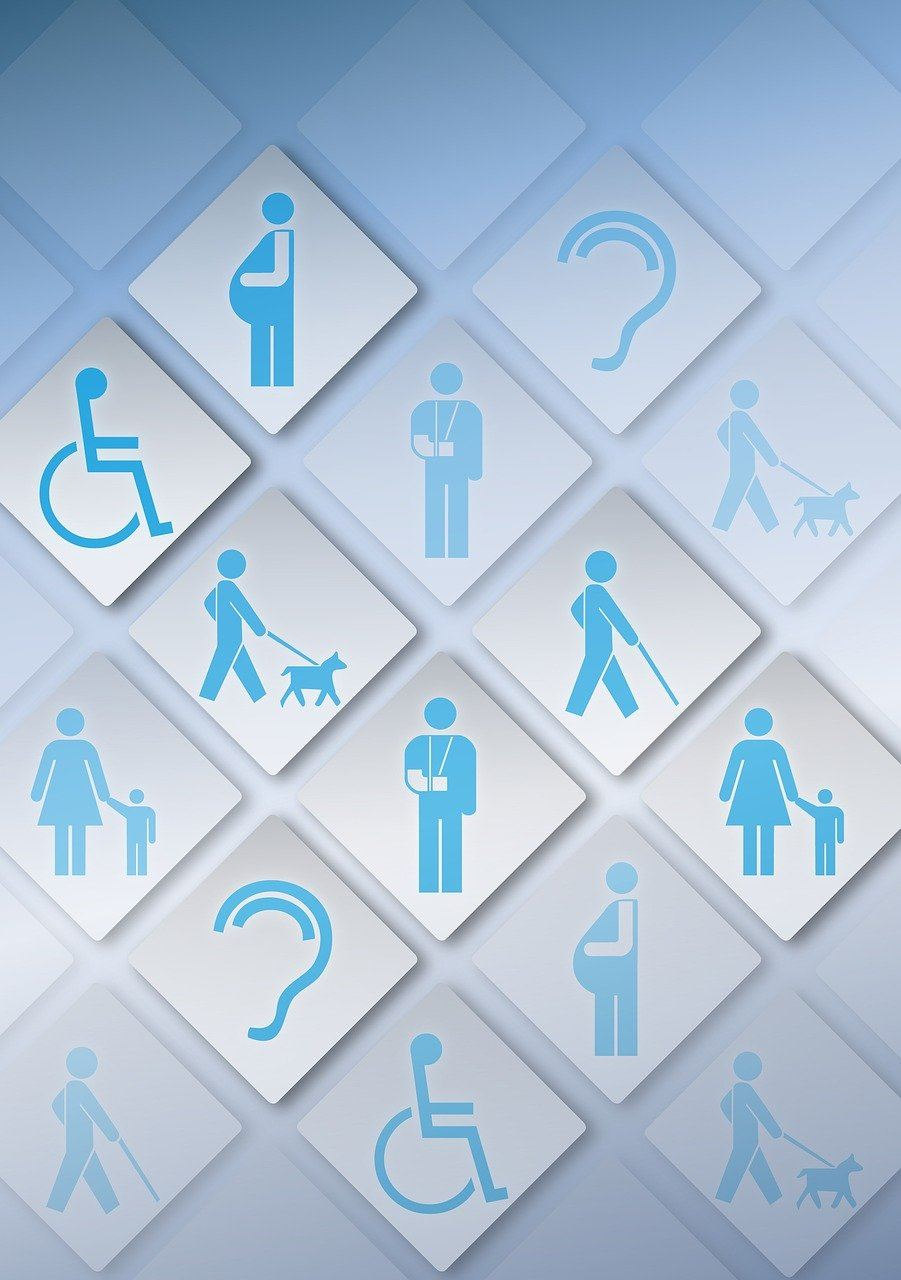 Accessibility graphic with various categories