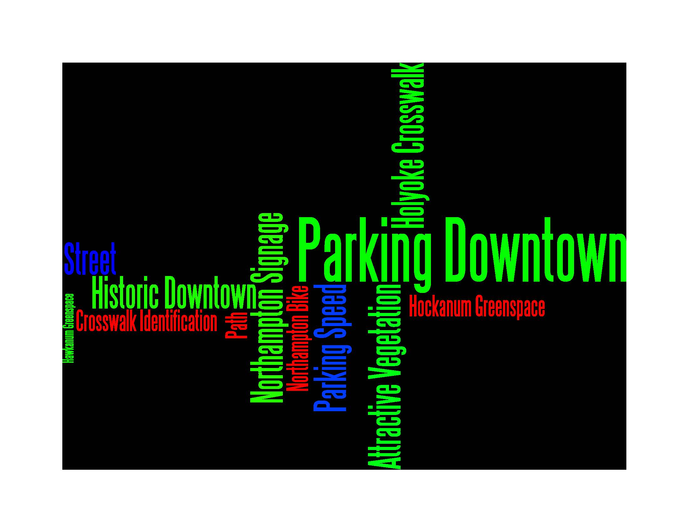 Word Cloud Infographic Showing Big Picture Pleasant Street Needs