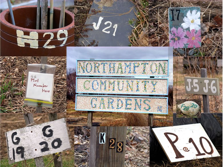 Northampton Community Gardens sign