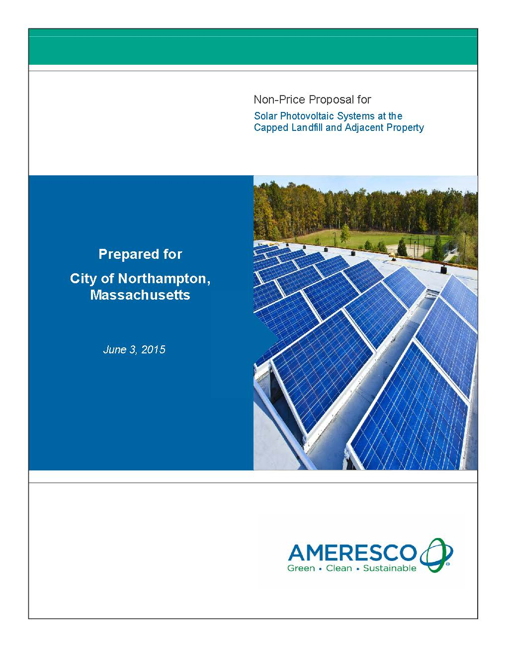 Pages from Ameresco Response to City of Northampton Solar RFP