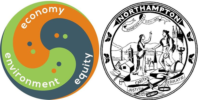 Economy, Environment, Equity Logo and City Seal
