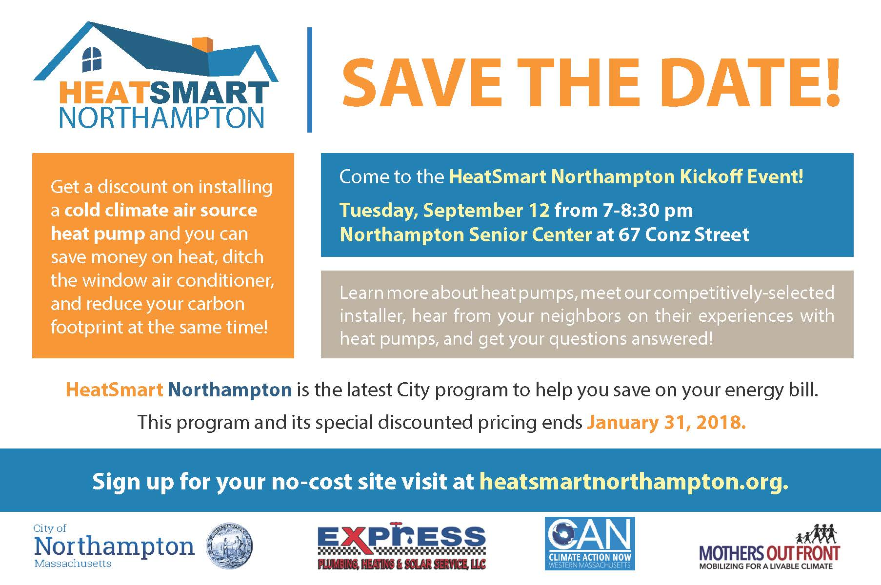 HeatSmart Northampton - Save the Date