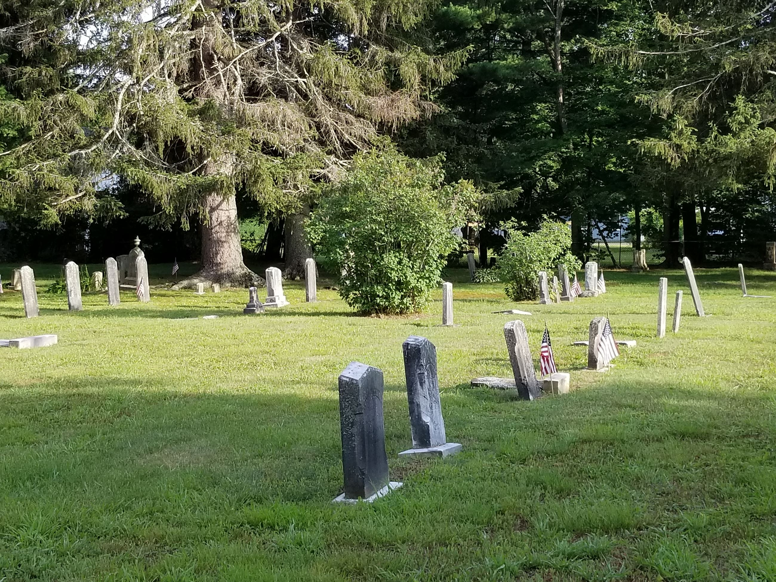 West Farms row of headstones