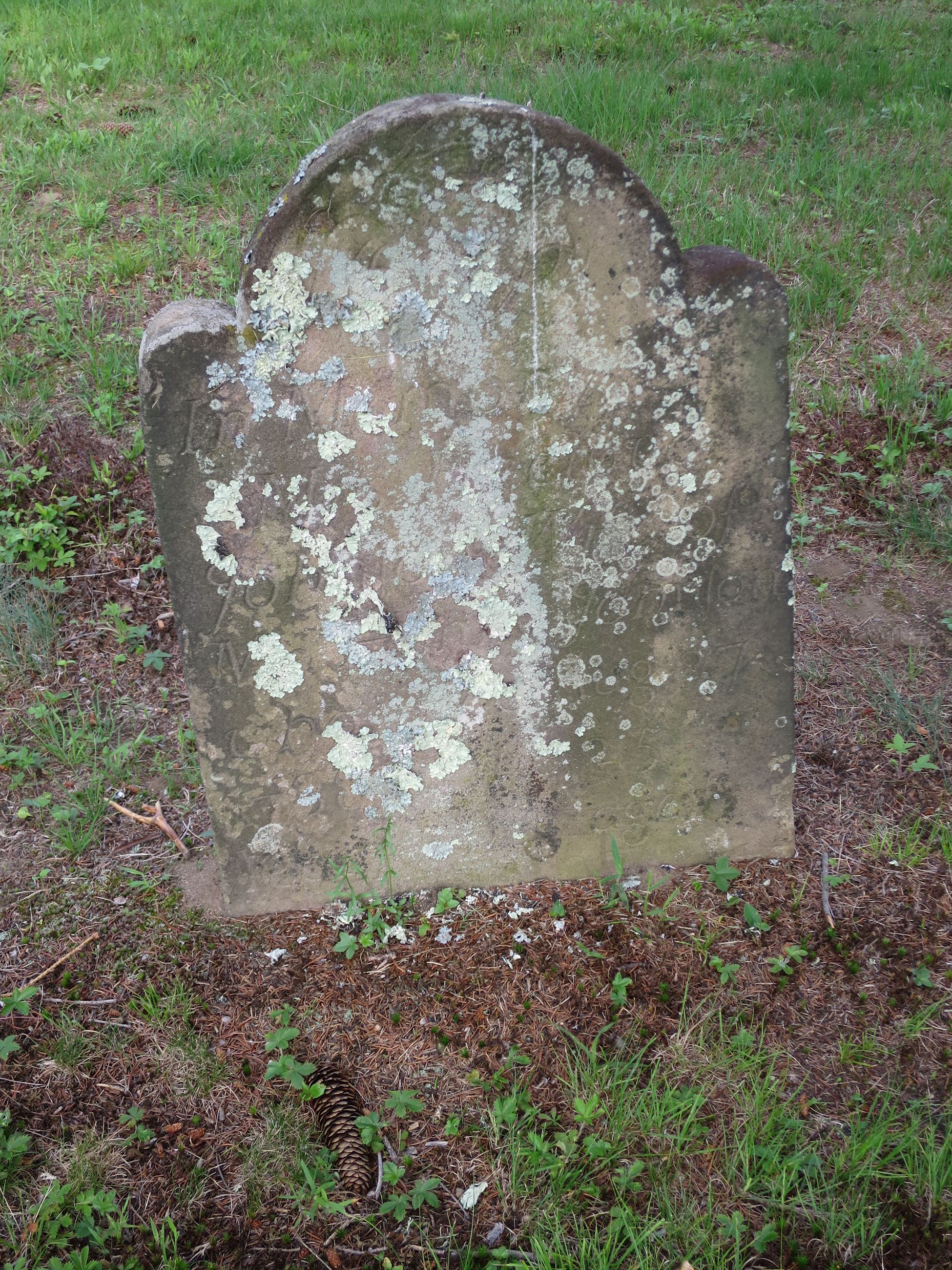 West Farms old deteriorated headstone