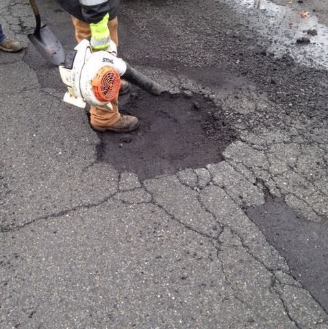 Burts Pit Road, pothole repairs 2018