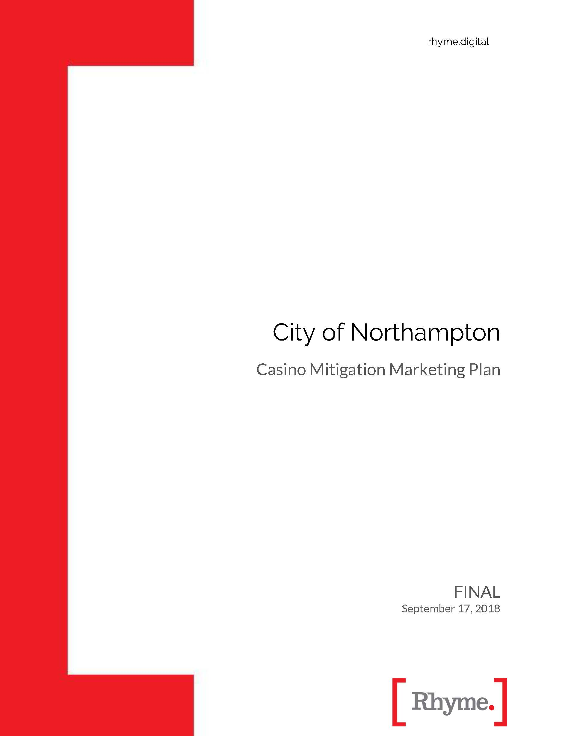 City_of_Northampton_Marketing_Plan_2018_Report cover page