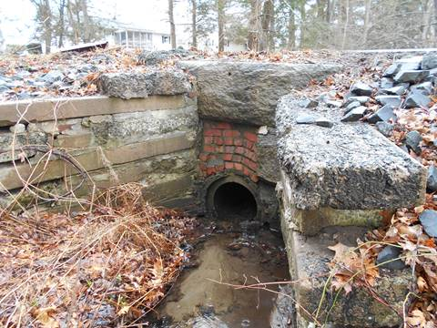 Image of Park Hill Road Culvert Upstream, Before Construction