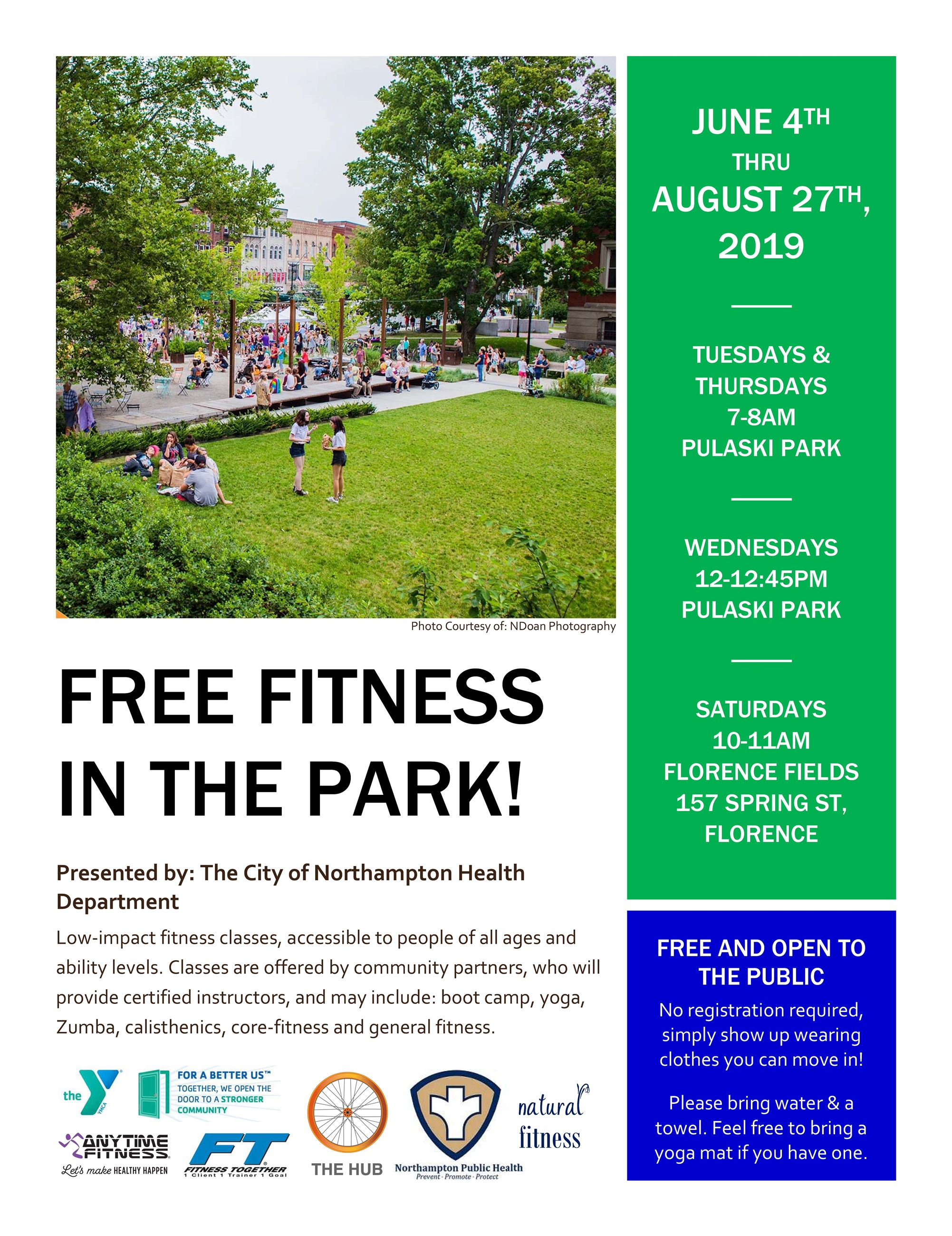 Image of Fitness In Park flyer