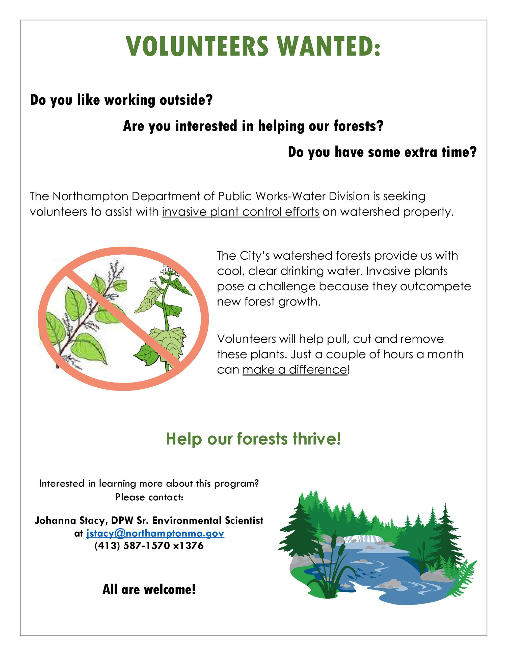 Image of Watershed Volunteer Flyer