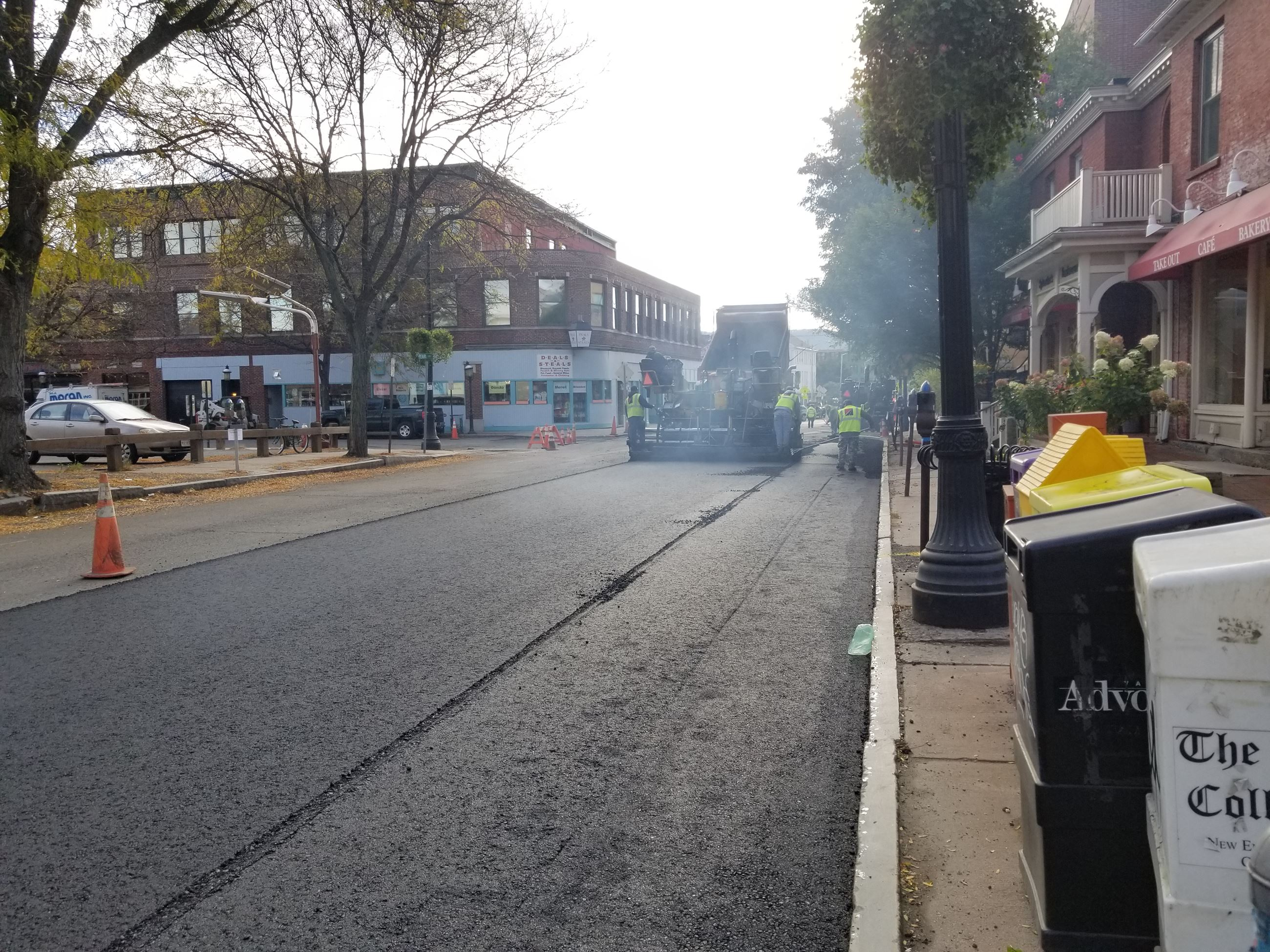 Image of Paving on Pleasant Street - Oct 2018