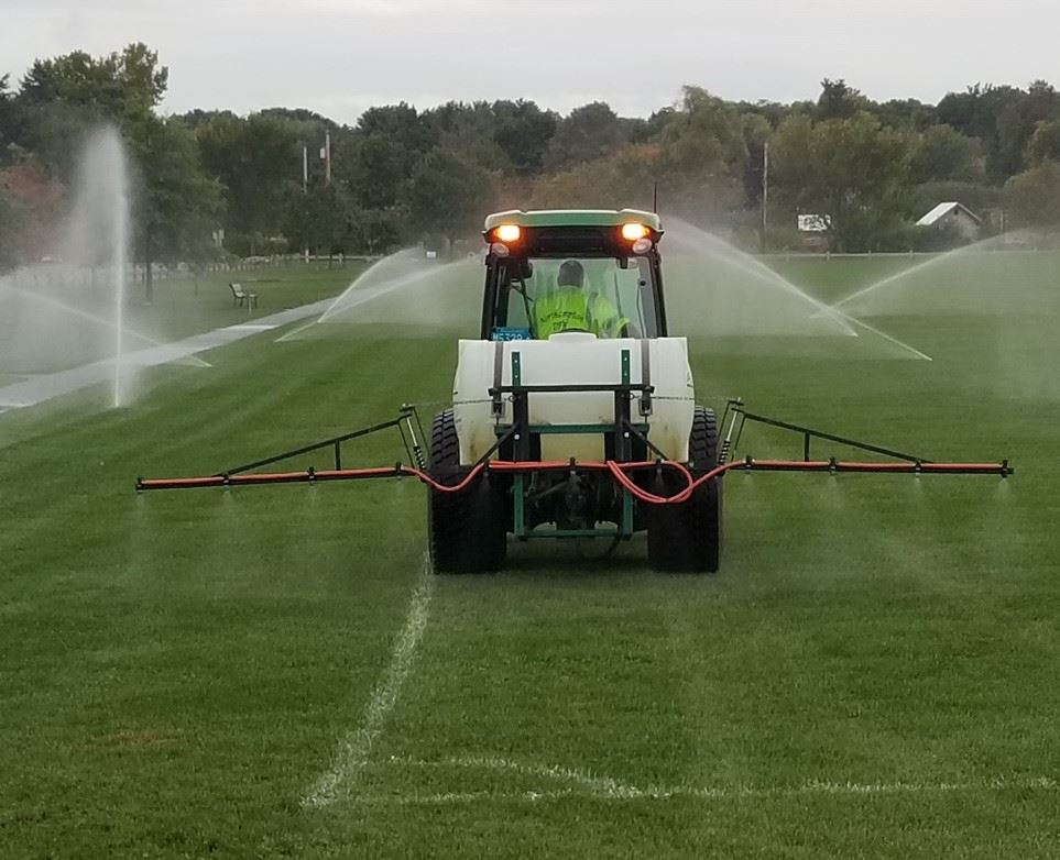 image of nematode spraying