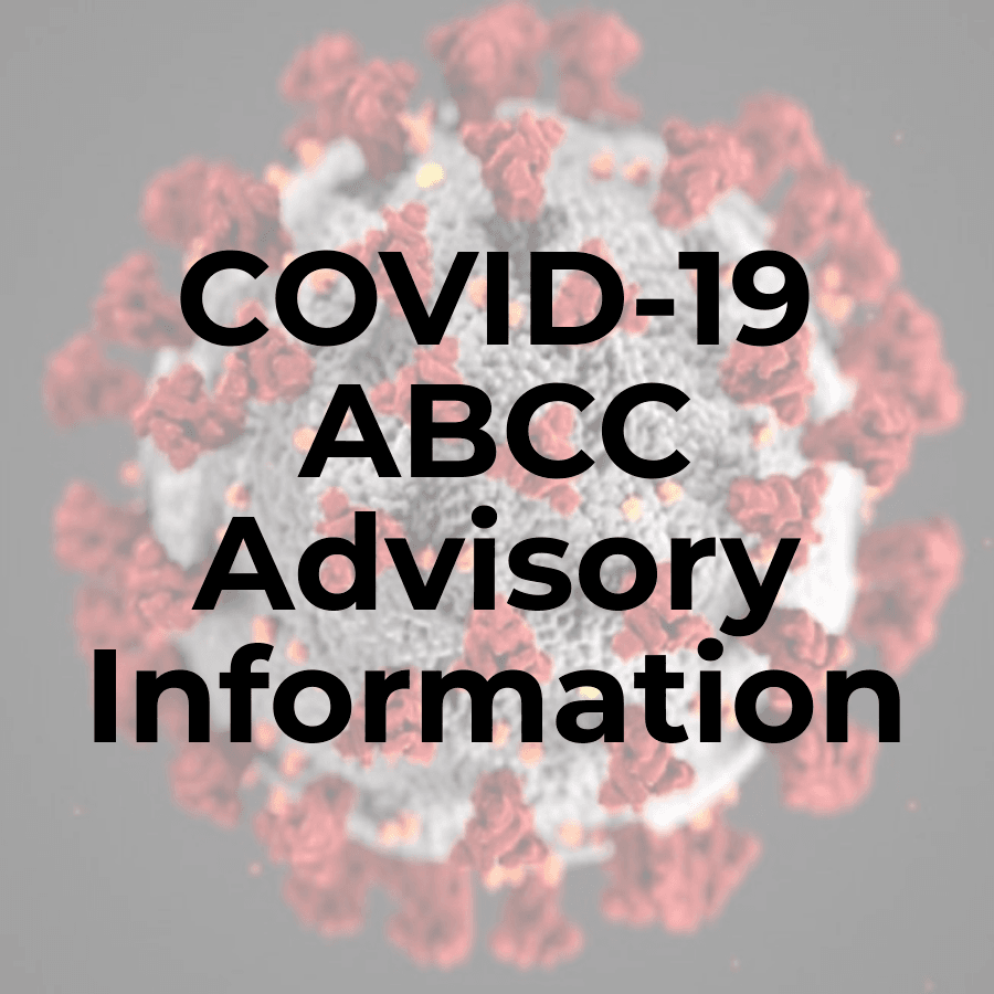 Image of COVID-19 ABCC Advisory Information