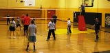 Volleyball game being played