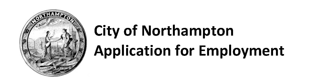 City of Northampton Application for Employment
